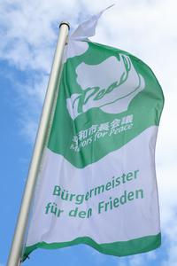 """Friedensflagge der """"Mayors for Peace"""""""